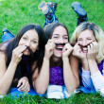 Three best friends — Stock Photo