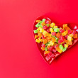 Plate with candy — Stock Photo