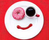 Breakfast with smile — Stock Photo