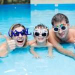 Fun in the pool — Stock Photo