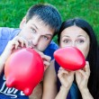 Friends with balloons — Stock Photo #19898579