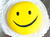 Sweet smile cake — Stock Photo