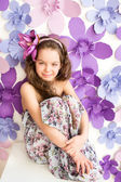 Emotion of beautyful child — Stock Photo