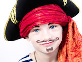 Boy in pirate costume — Stock Photo