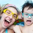 Holiday in aquapark — Stock Photo