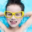 Stock Photo: Boy in aquapark