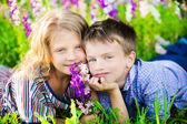 Children having fun at summer day — Stock Photo