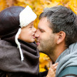 Father playing with his son in the park — Stock Photo
