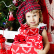 Cute little santa baby  — Foto Stock