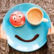 Smile for a good morning breakfast — Stock Photo #40955795