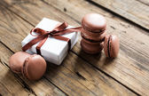Traditional french desert macaroons — Stock Photo