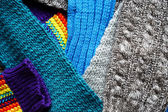 Zestaw różnych tkanin — Zdjęcie stockowe