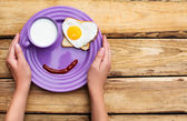 Cute breakfast at the morning — Stockfoto