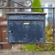 Old destroyed metal postbox - Stock Photo