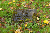 Old gravestonein the cementary — Stock Photo