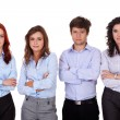 Stock Photo: Group of young business , isolated on white
