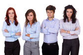 Group of young business , isolated on white — Stock Photo