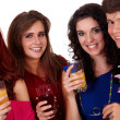 Royalty-Free Stock Photo: Group of young smiling on a party, isolated on white