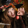 Royalty-Free Stock Photo: Halloween witch with poisoned apple