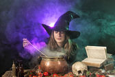 Halloween witch — Stock Photo