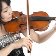 Female asian violonist — Stock Photo