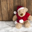 Teddy bear sitting in the snow — Stock Photo
