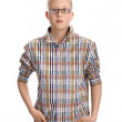 Young boy , standing hands in his pockets — Stock Photo #18455093
