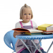Little girl reading books — Stock Photo