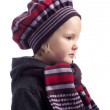 Profile of little girl with winter hat and coat — Stock Photo #18716255