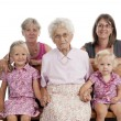 Stock Photo: 4 generation family