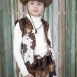 Stock Photo: Cowgirl in country outfit