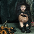 Little halloween witch — Stock Photo