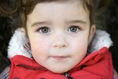 Closeup portrait of a adorable little girl — Stock Photo