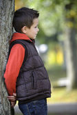 Young boy in autumn — Stock Photo