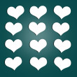 Royalty-Free Stock Photo: Hearts Stickers