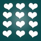Adesivos de corações — Foto Stock