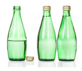 Three soda water bottles on white — Stock Photo