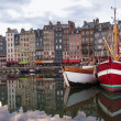 Honfleur Normandy, France summer evening harbor view — Stock Photo #38604397
