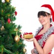 Woman near christmas tree — Stock Photo #12274359