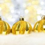 Christmass balls on fur — Stock Photo #12283099