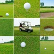 Foto Stock: Golf set