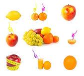 Fruits set — Stock Photo