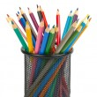 Pencils in holder — Stock Photo #12360459