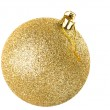 Yellow christmas ball — Stock Photo #12367046