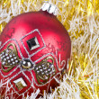 Red christmas ball — Stock Photo #12393757