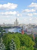 Moskova, rusya havadan görünümü — Stok fotoğraf