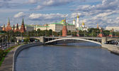 Panoramic view to Moscow Kremlin — Stok fotoğraf