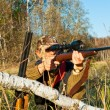 Hunter aiming — Stock Photo #13472179