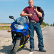 Motorcyclist — Stock Photo #13615196