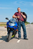 Motorcyclist — Stockfoto